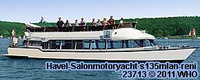 Havel-Salonmotoryacht s135mlan-reni. Berlin Schiff Havel Spree