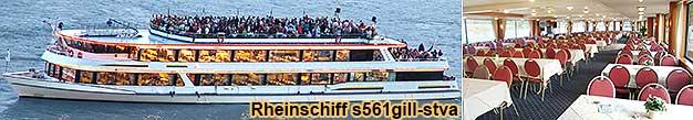 Schiffsrundfahrt Mittelrhein-Lichter zu Assmannshausen in Rot