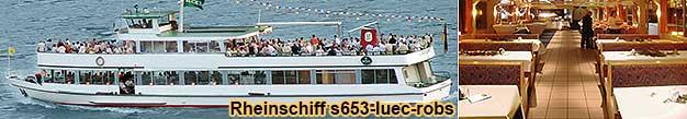 Rheinschiff s653luec-robs Rheinschifffahrt bei Rüdesheim, Bingen, Ingelheim-Freiweinheim, Eltville, Wiesbaden, Mainz, Rüsselsheim, Frankfurt am Main.